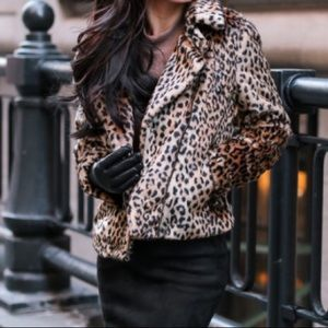 Lord and Taylor faux leopard jacket